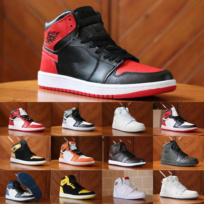 huge discount 16454 4d1be Compre 2018 Nuevo 1 High Og Game Royal Banned Shadow Bred Toe Zapatos De  Baloncesto Baratos Hombres 1s Shattered Backboard Medalla De Plata  Zapatillas De ...