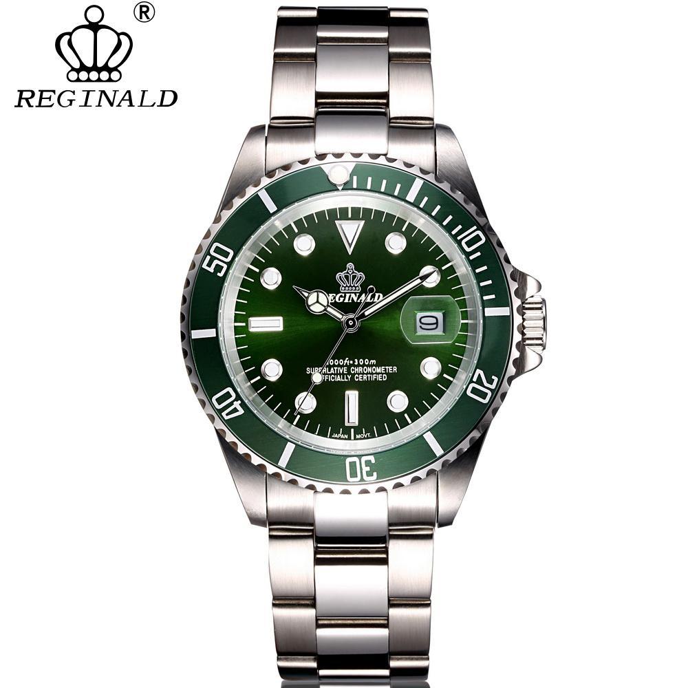 27837b8561a Compre REGINALD Quartz Relógios De Luxo Da Marca De Safira Homens Relógio  De Negócios De Aço Inoxidável Esportes À Prova D  Água 50 M Relógio  Masculino De ...