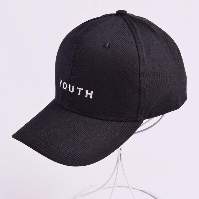 Youth Letter Embroidered Caps Lover Men Women Baseball Cap Snapback Hat  Black White Sunhat Gorras Valentine S Day Hombre Mujer Basecaps Hats For  Sale From ... 4d957def0a2