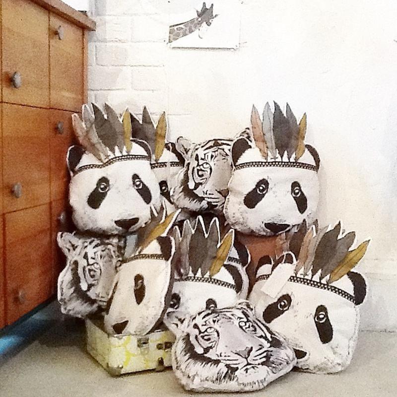 2018 New Maka Kids Fahion Baby Stuffed Toys Pillow Room Bed Sofa Decorative Indian Panda Cushion Children S Best Gift Protectors Microbead