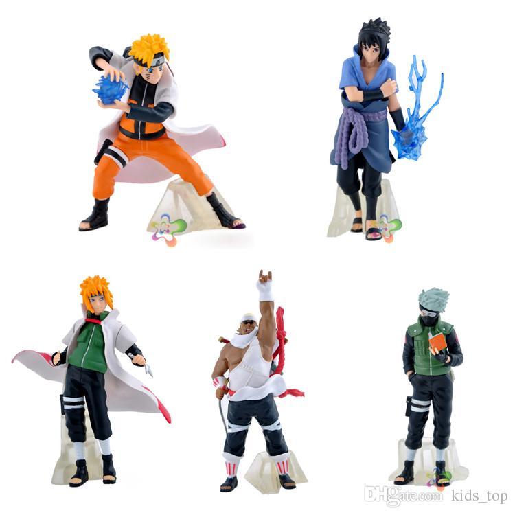 Naruto Action Figures Toys 12cm Pvc Naruto Kakashi Sasuke Action