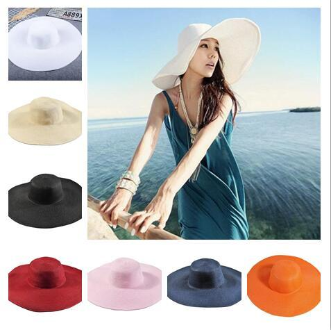 7eb02e05 2018 Summer Women Beatch Straw Hats Sun Hat Ladies Wide Brim Straw Hats  Outdoor Foldable Beach Panama Hats Church Hat Choose Bucket Hats For Women  Kentucky ...