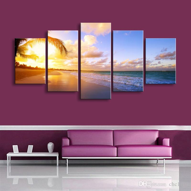high-definition print landscape canvas painting poster and wall art living room picture PL5-244