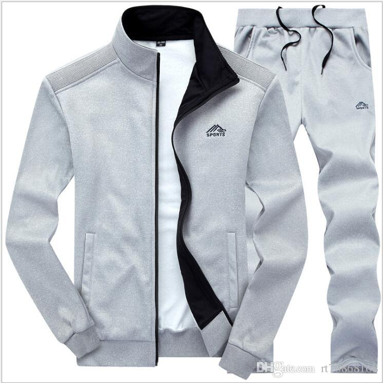 d8e8648c49d 2019 Sweatsuit Men Clothing Tracksuit Set Crossfit 2018 Men S Set Spring  Summer Men Tracksuit Sportswear Set Suit Jacket+Pant From Rt76868168