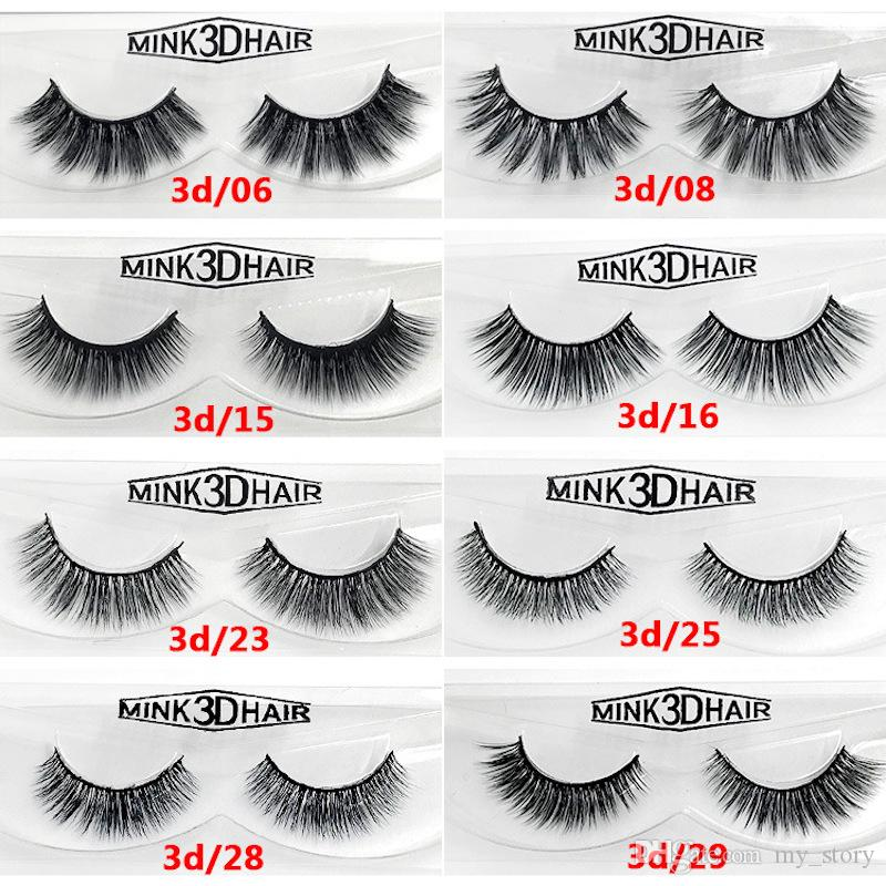 12 styles Selling 100% Real Siberian 3D Mink Full Strip False Eyelash Long Individual Eyelashes Mink Lashes Extension