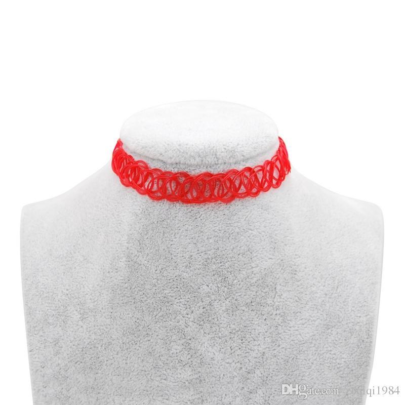 Neue Modeschmuck Angelschnur Weben Tattoo Choker Halskette Einstellbar Für Frauen Mädchen Liebhaber Trendy Geschenk