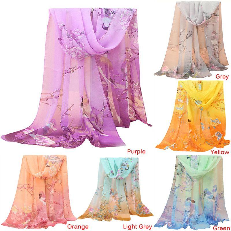 7a8a1254cb5c3 160 50 CM Animal Wrap Shawl Swimsuit Cloak Mujer Foulard Stoles Beach Silk  Scarf Bird Printed Women Chiffon Silk Scarf Scarves Bandana Pashmina From  ...
