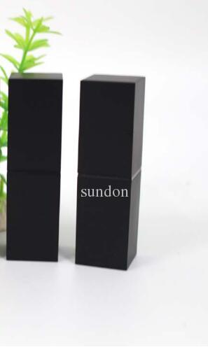 free shipping 100pcs empty high grade plastic lipstick tube ,black outter square shape inner DIY lipstick tube
