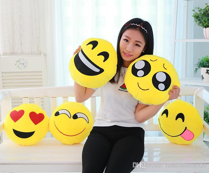 super funny plush toy emoji QQ face expressions kiss love cushion pillow  creative lover birthday Valentine dolls gift 17 styles DHL