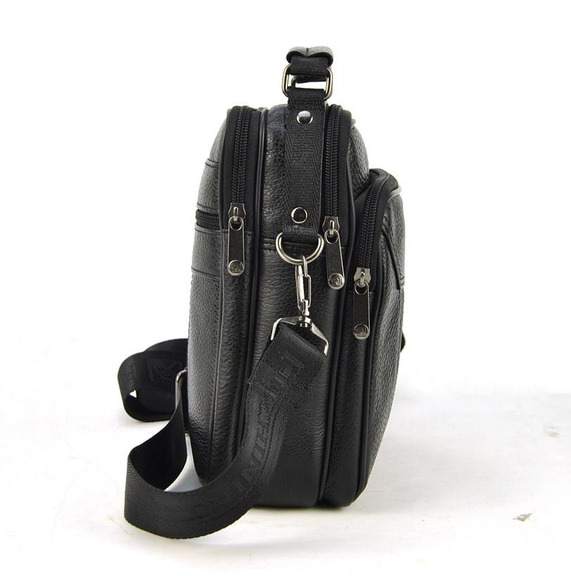 Männer Vintage echtes Leder Umhängetasche Retro Cross Body Messenger Casual tägliche Arbeit Business Classic Multi Zip Fach