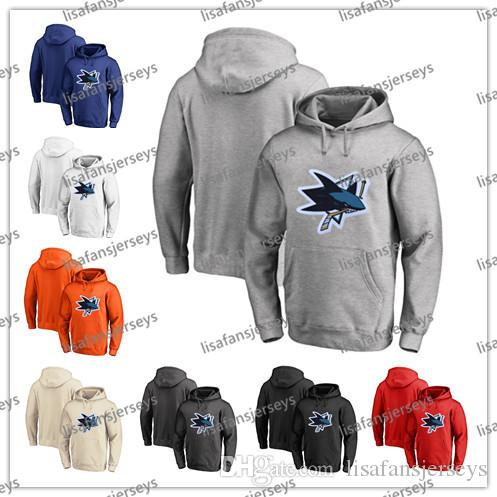 c0366ff3396 Mens Designer Hoodies San Jose Sharks All Sewn Hockey Jerseys Best ...