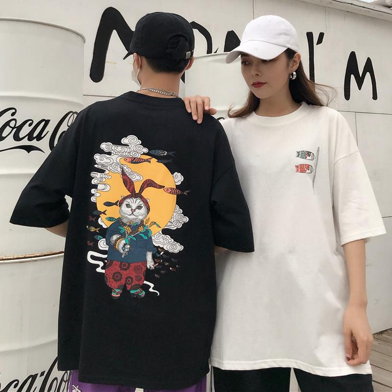 3a74990e3 Korean Casual Graphic Female T Shirts Summer Harajuku Anime Bunny Print  Couple T Shirt Japanese Style Street Fashion Tee Tops On T Shirts It Tee  Shirts From ...