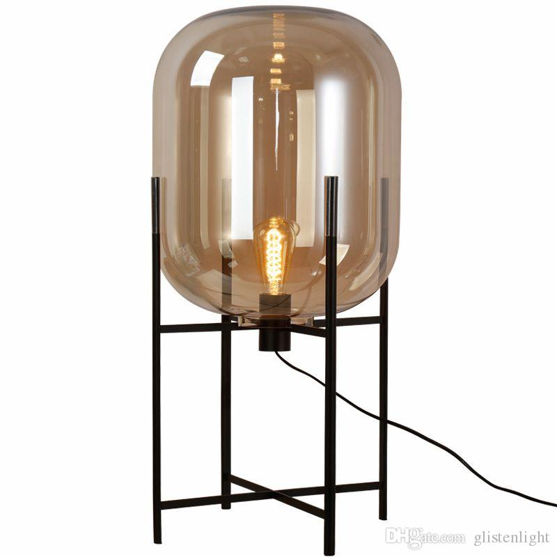 2018 Europe Oda Pulpo Table Lamp Glass Shades Metal Lamp Body Desk Light  Amber Gray Color Shades Table Deco Lamp For Bedroom From Glistenlight, ...