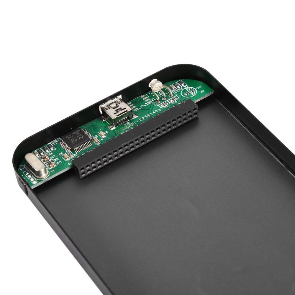 Cable USB para unidad de disco duro SSD USB2.0 Caja de almacenamiento externo de caja SATA HDD de 2.5 pulgadas