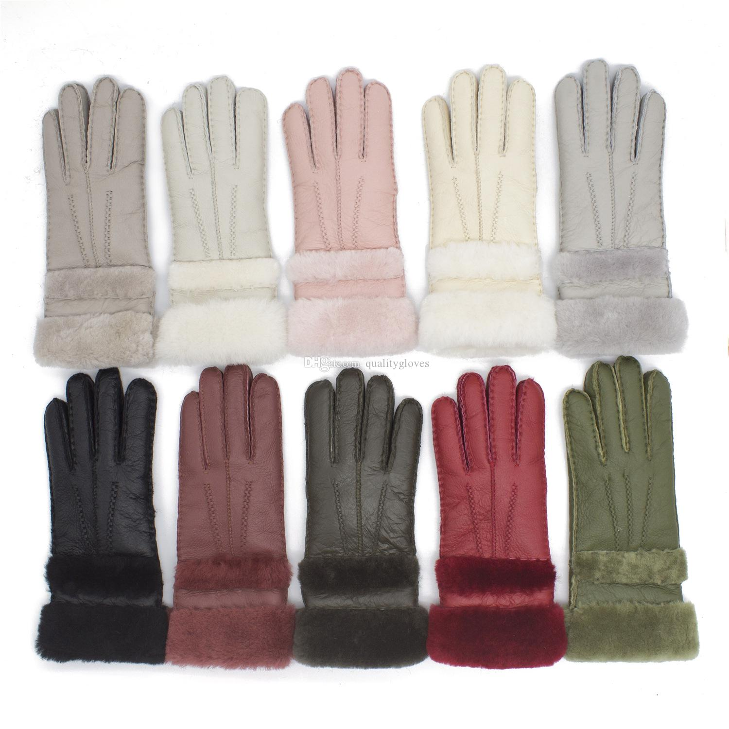 2018 New Women High Quality Leather Gloves Women Wool Gloves Free Shipping Quality Assurance - lengthened