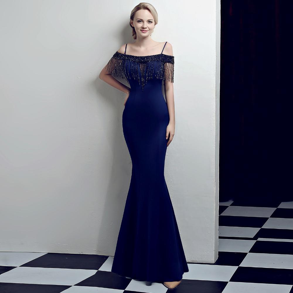 7ed98f627 Compre Vestido Largo De Verano De 2018 Mujeres Para Fiesta Vestido Elegante  Atractivo Para El Vestido De Noche De Boda Memaid Con Listones A  89.24 Del  ...