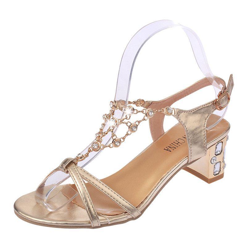 81575b985557 Rhinestone Gladiator Sandals Women 2018 Fashion Ladies Summer Shoes Women  Sandals Open Toe Heels Wedding Sandals High Heels Sandalen Dames Sandels  Sparx ...