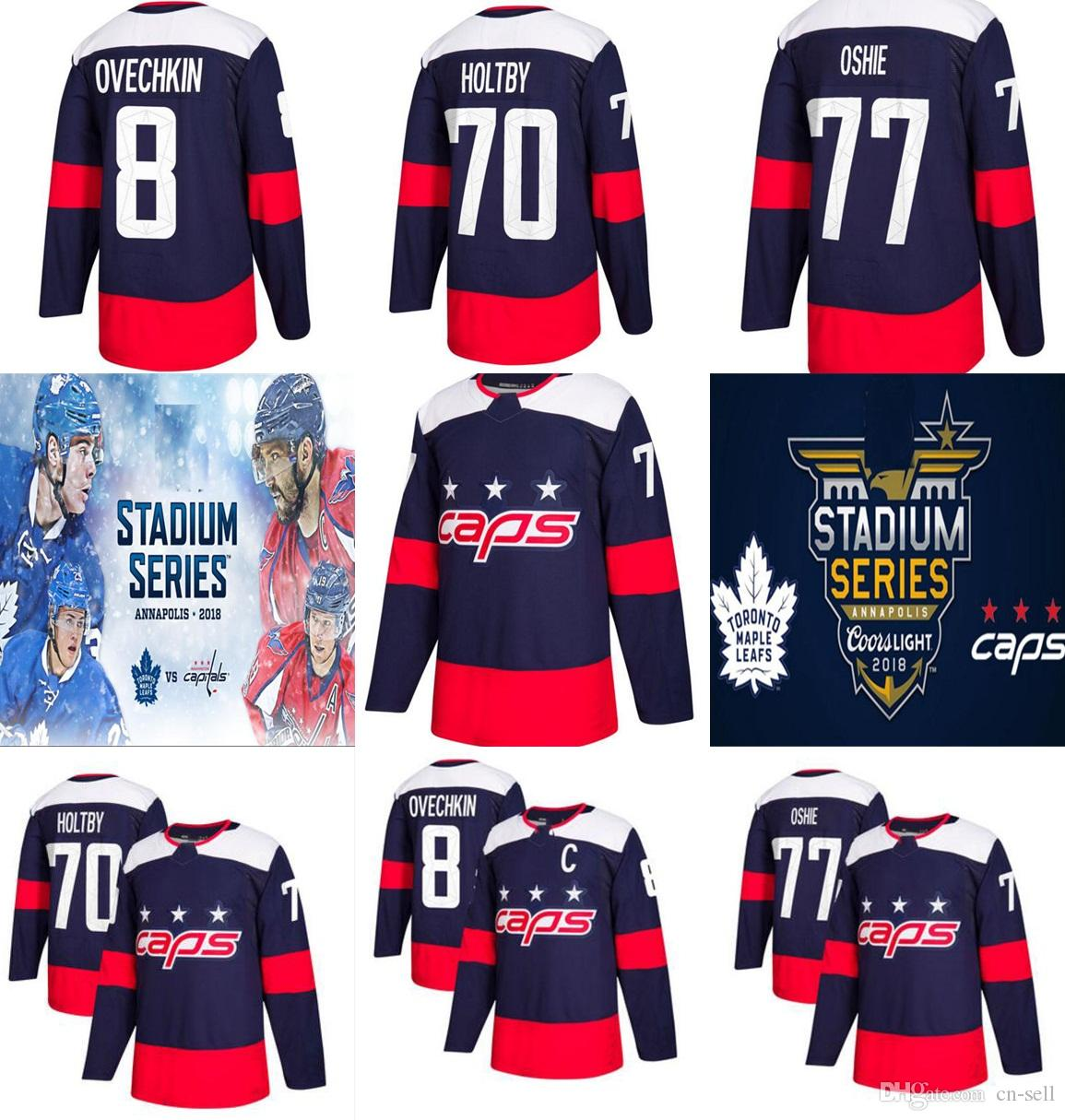Mens Womens Kids Braden Holtby 2018 Stadium Series Hockey Jerseys  Washington Capitals Leafs Alex Ovechkin Brooks Orpik Connolly Smith-Pelly 8  Alex Ovechkin ... 6af7c7647