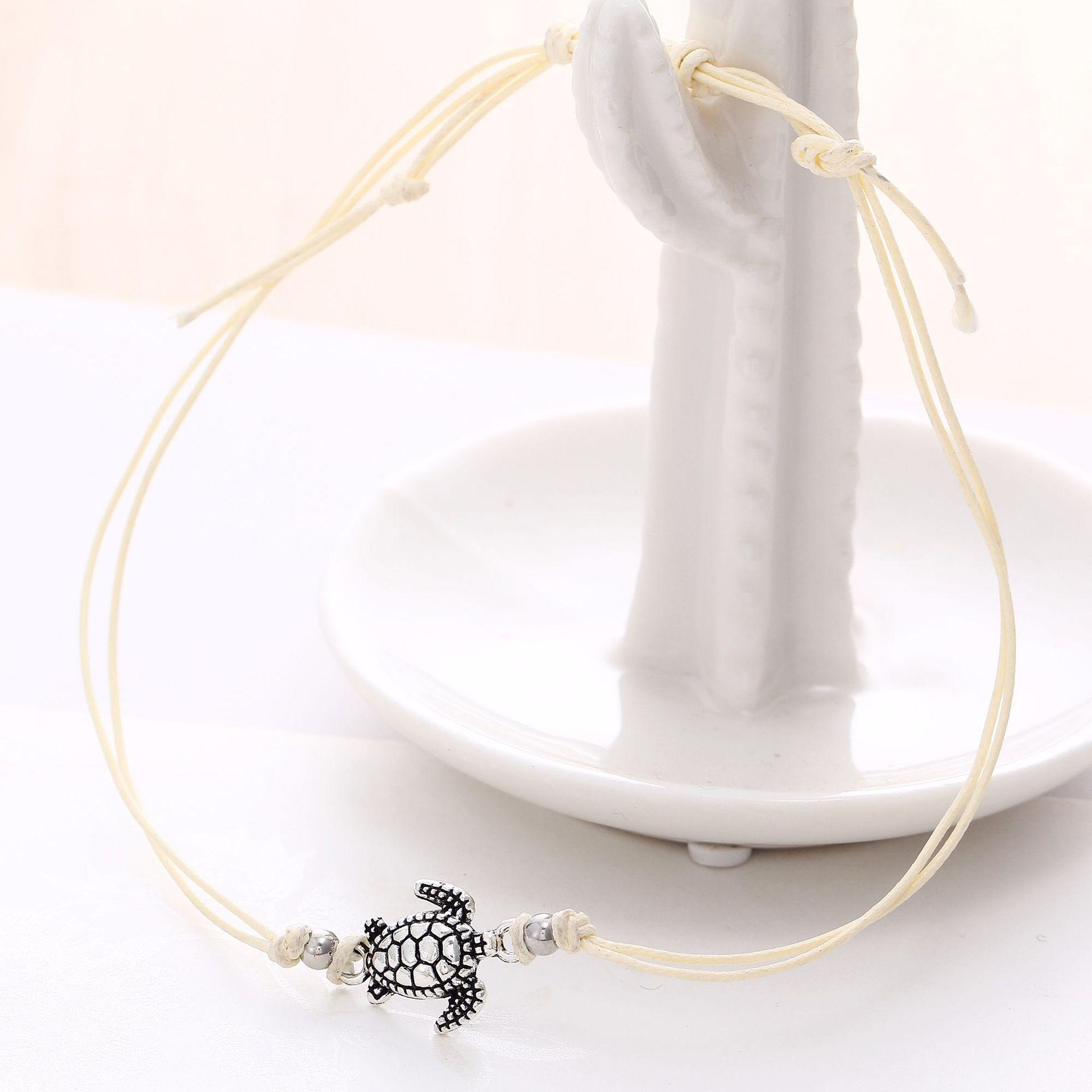 / Set Boho Hand Geflochtene Knöchel-Armband nette Cuckold Fuß Halhal Schmucksachen für Frauen Fußkette Strand Schmuck Accessoires