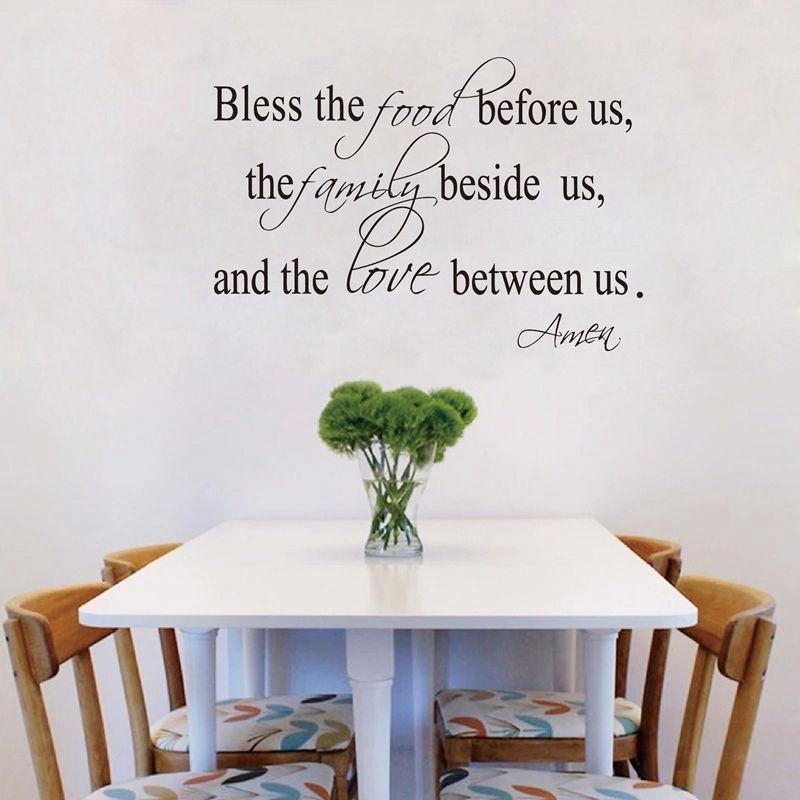 art cologne bless the food family love religious dining room vinyl
