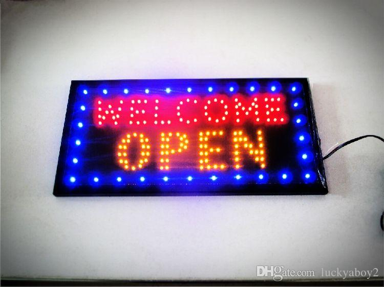 a0c8a9df5 2019 Bright Animated Motion Running Neon LED Business Store Shop Welcome  OPEN Sign With Switch US Plug From Luckyaboy2