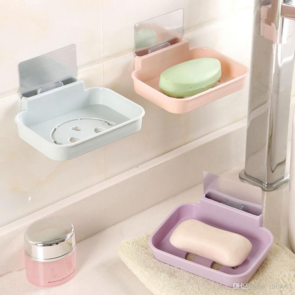 2018 Bathroom Gadgets Wall Mounted Soap Holder Multi Colors Soap ...