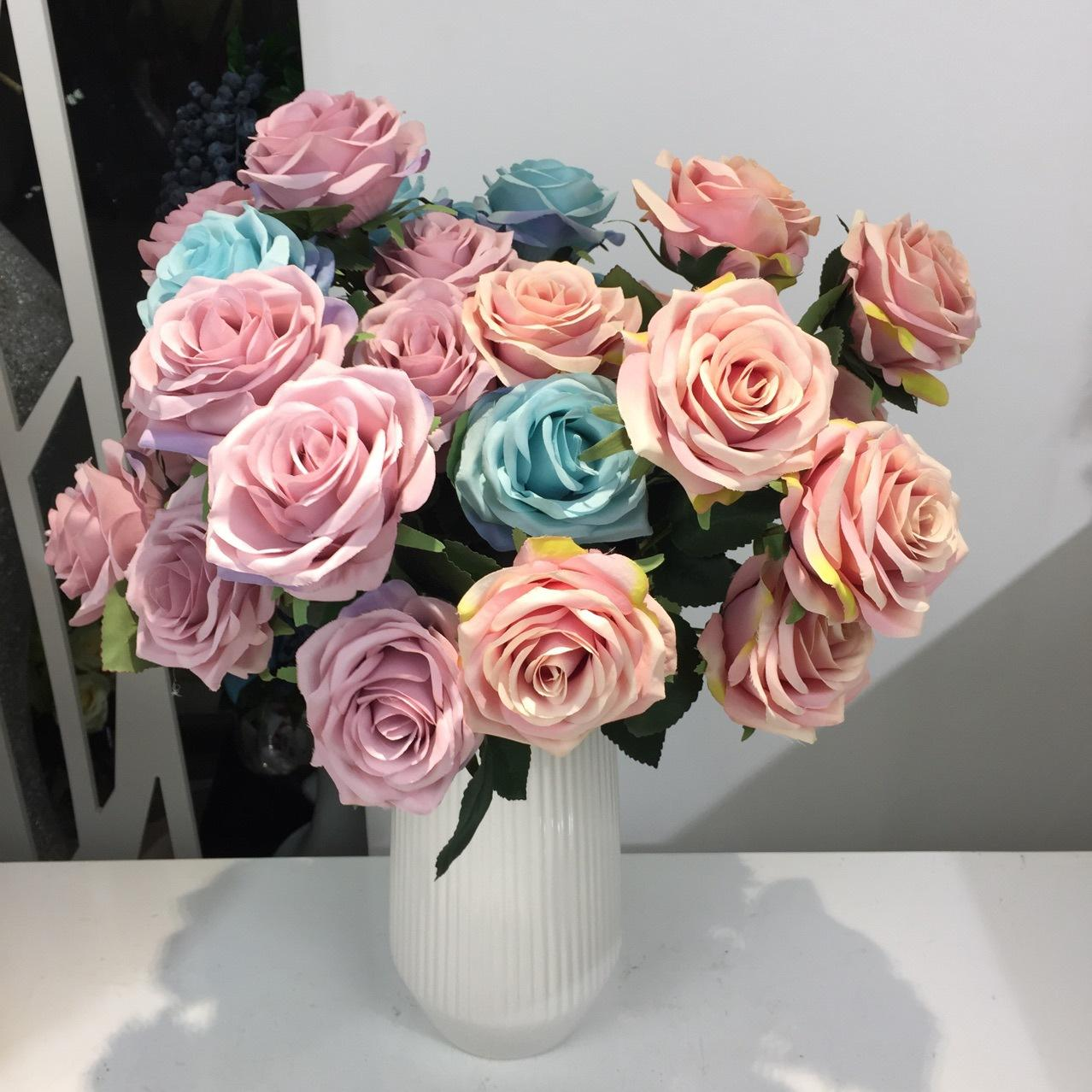 2018 artificial silk 1 bunch french rose floral bouquet fake flower 2018 artificial silk 1 bunch french rose floral bouquet fake flower arrange table daisy wedding flowers decor party accessory flores from glasssmoke izmirmasajfo