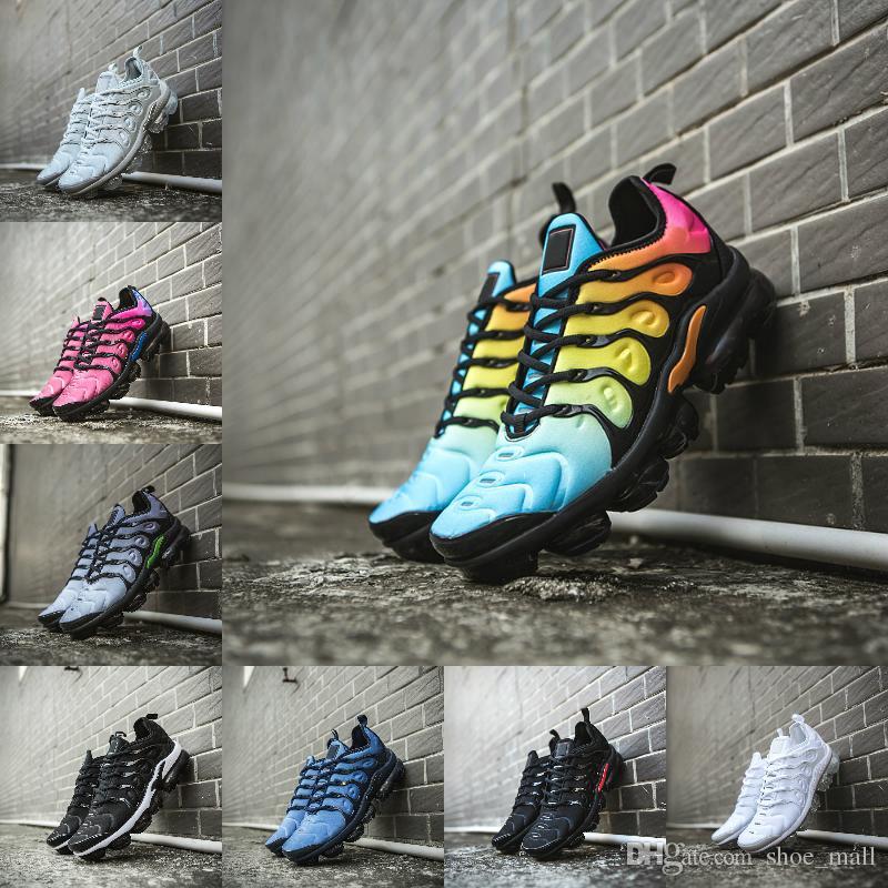 new arrival 18bb1 8b08d Compre 2018 Nike Air Max Vapormax Tn 2 Off White Airmax Tn Plus Tn Zapatos  Deportivos Grape Volt Hyper Violet Blue Hombres Mujeres Zapatillas De  Running ...