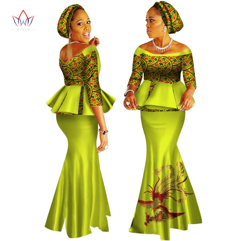 ef3710394f44e1 2019 African Dashiki Print Dress Crop Tops&Skirt Set Hand Made Off Shoulder  Half Sleeve African Women Clothing Long Skirt Set WY2626 From Trousseau, ...
