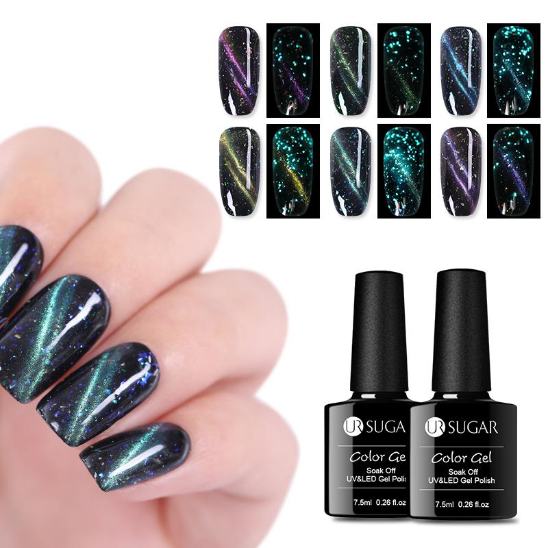 UR SUGAR Luminous 3D Magnetic UV Gel Polish 7,5 ml Cat Eye Nagel Gel Lack Glow in The Dark Lack DIY