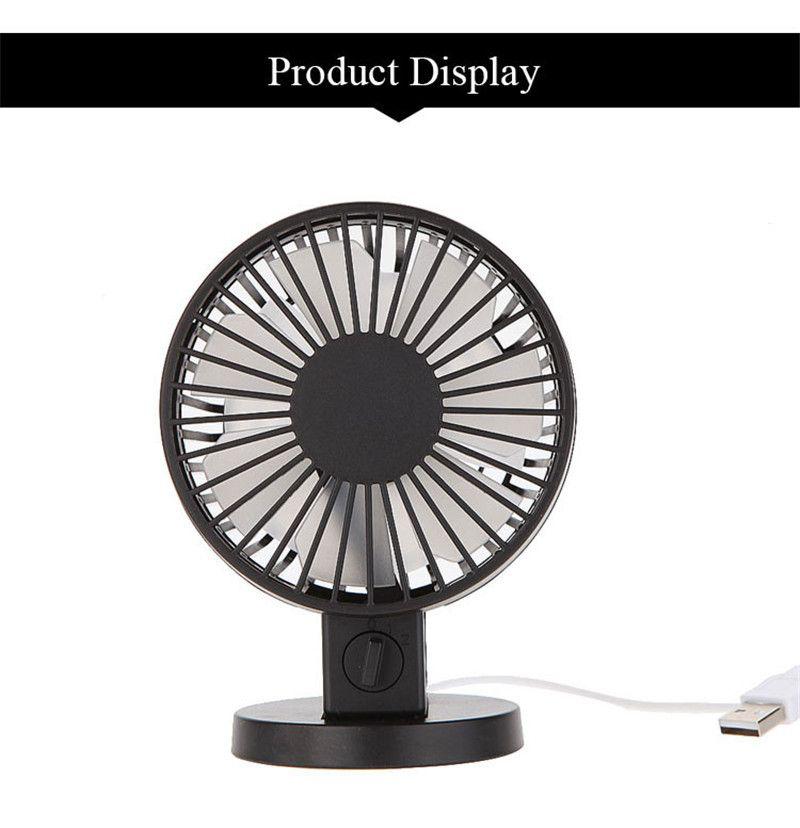 Portable Creative Double-vane Mini USB Desk Fan For Home Office ABS Electric Desktop Computer Fan With Double Side Fan Blades