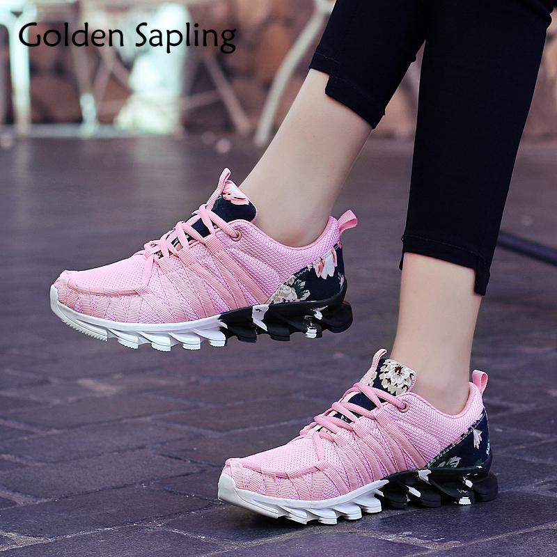 6c34af6787557 2019 Golden Sapling Women S Running Shoes For Women Sneakers Platform Rubber  Air Mesh Sport Shoes Woman Sneaker Trail Ladies Sneakers From Superfeel