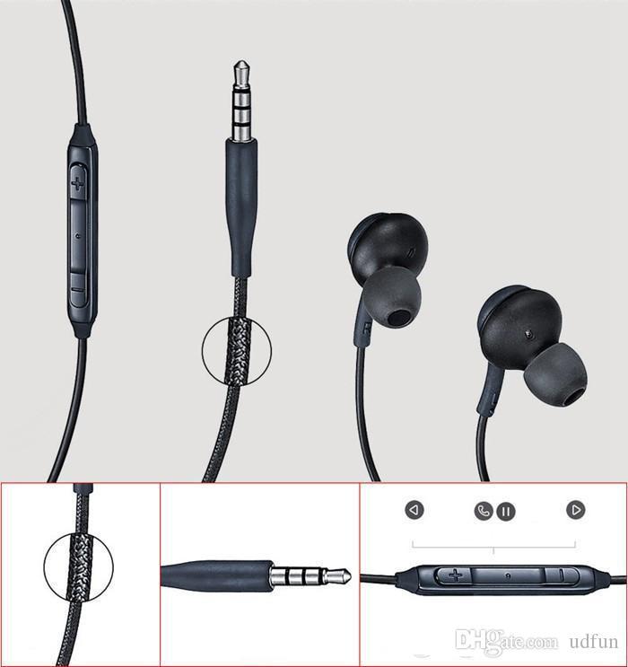 Auriculares S8 Auriculares negros originales en la oreja EO-IG955BSEGWW Auriculares manos libres para Samsung Galaxy S8 Plus Auriculares OEM DHL