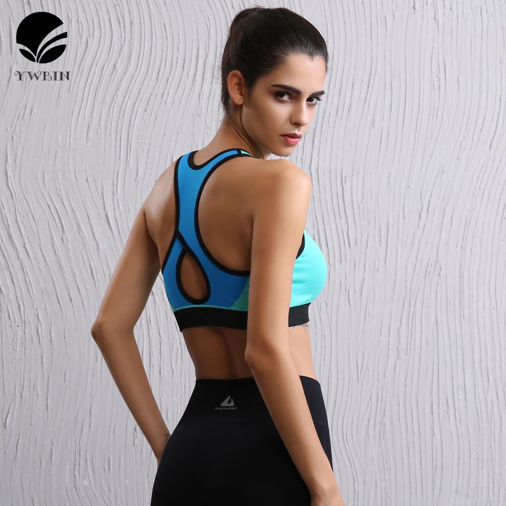 f8fbba3812a87 2019 Hot Sale Sports Bra Women Fitness Top Shake Proof Padded Yoga Bra  Workout Gym Top Wire Free Push Up Running Yoga From Simmer