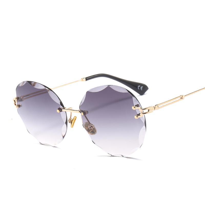 517bc99f4923b 2018 Luxury Transparent Gradient Rimless Sunglasses Women Hot Designer Sun  Glasses Retro Gradient Shades UV400 Eyewear Tifosi Sunglasses Cheap  Eyeglasses ...