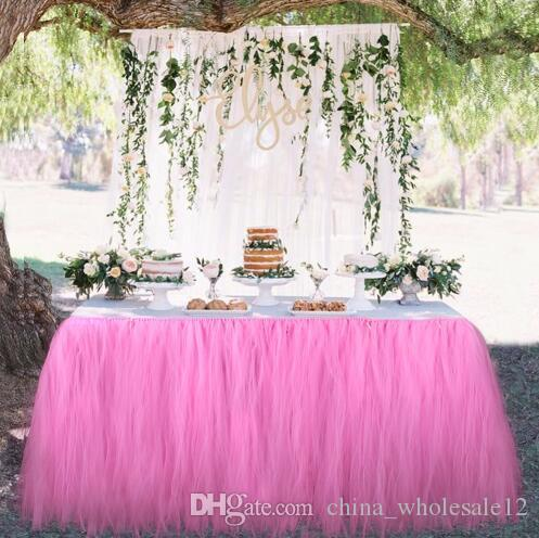 Wedding table skirt table decoration accessories tulle tutu table wedding table skirt table decoration accessories tulle tutu table skirt baby shower birthday party decorations kids birthday supplies for kids birthday junglespirit Images