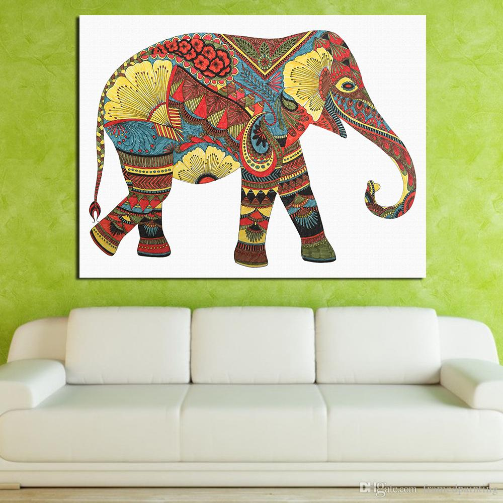Hindus Elephant Painting Wall Pictures For Living Room Picture Canvas Art Posters And Prints Home Decor No Frame