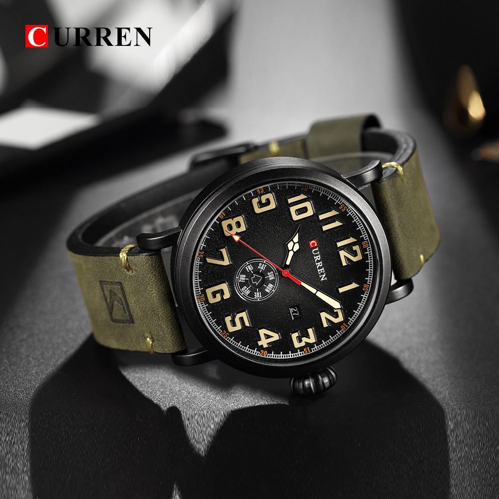 172488e259e CURREN Top Brand Men Sports Waterproof Quartz Watch Luxury Calendar  Wristwatches Relogio Masculino Watch Buy Online Watch Buy From Htiancai