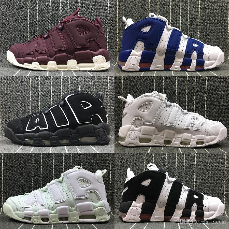 a943bc99078 2019 Discount More Uptempo OG Basketball Shoes For Men Women 2019 New Air  Tri Colors 3M Reflective Classic Scottie Pippen Boots Street Sneakers From  Elecar