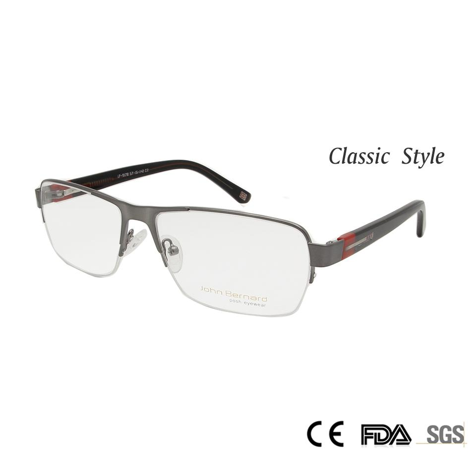 ec5d853c6a8 2019 Wholesale 2017 New Men Metal Half Rim Optical Frame Outsize Rectangle  Nerd Glasses Myopia Eyeglasses Oculos De Grau From Zhijin