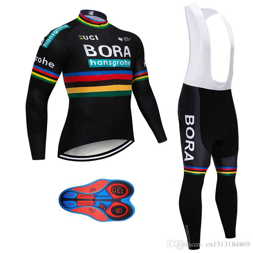 2018 Pro Team Bora Hansgrohe Winter Thermal Fleece Cycling Jersey Kit Ropa  Ciclismo Invierno Bicycle Clothing MTB Bike Jersey Bib Pants Kit Bike  Jerseys ... dc1d82032