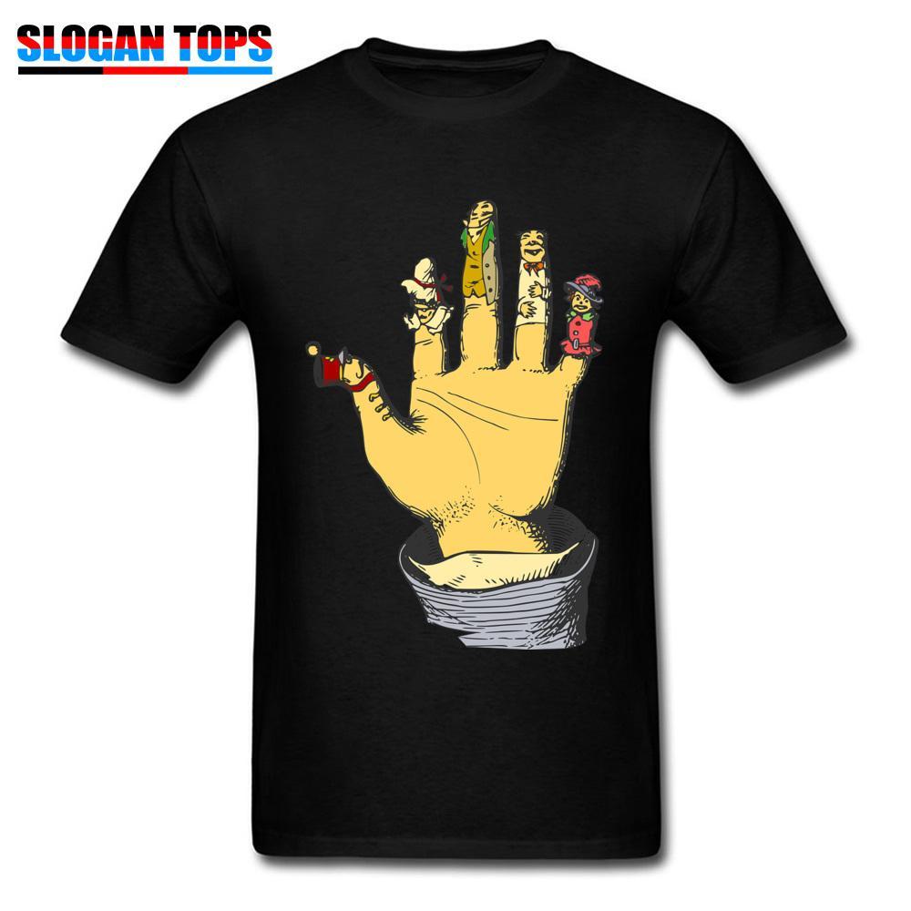 grosshandel einzigartige manner t shirt finger spielen tops vintage cartoon tees lustige spiel kleidung drucken mens tshirt neuheit geschenk t shirts schwarz