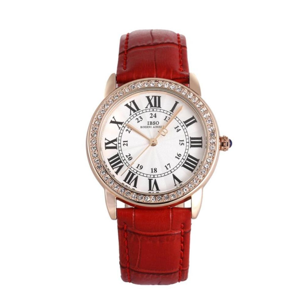 c13339f38baa IBSO Fashion Diamonds Watch Roman Numeral Markers Wowmens Watches ...