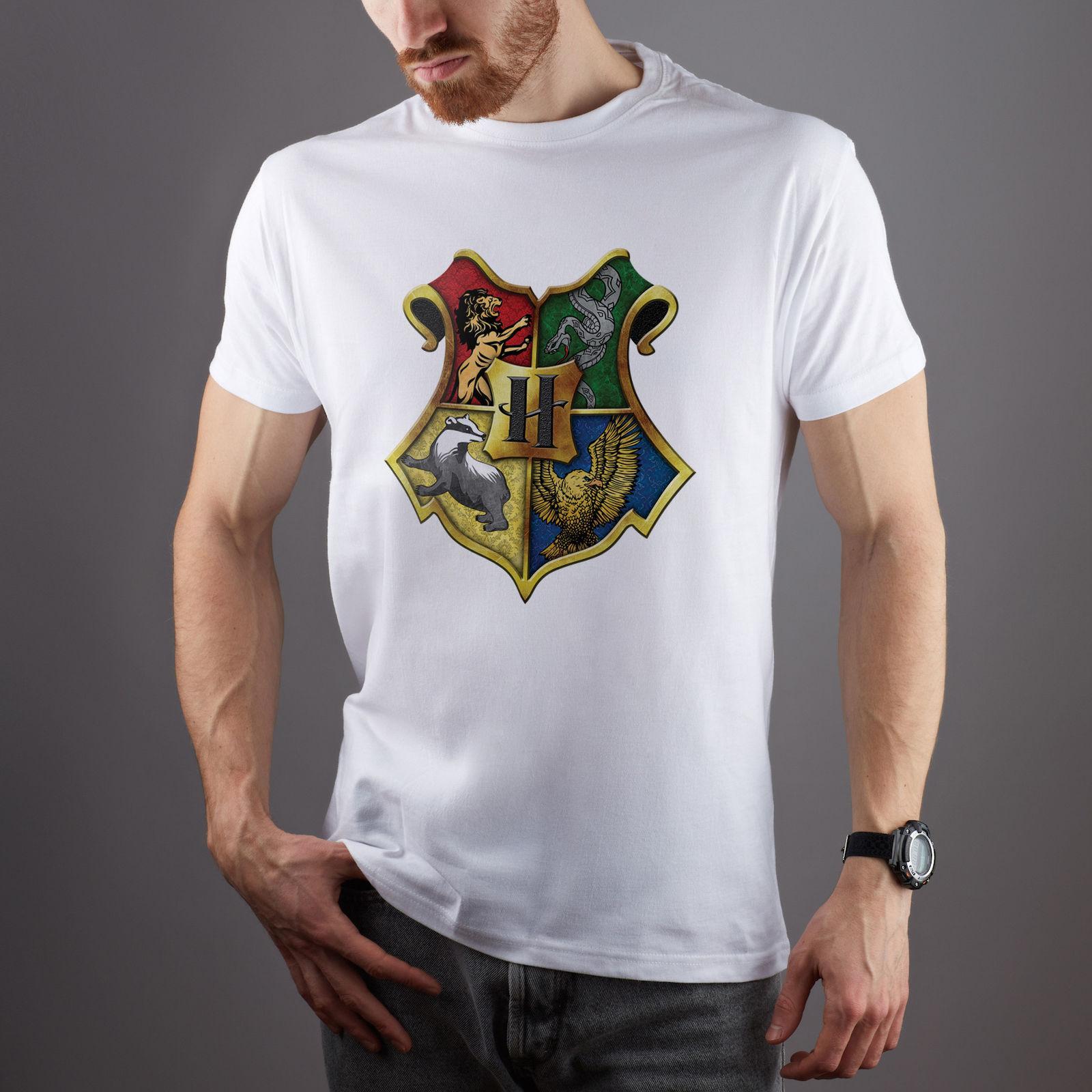 8d91721b07 Compre Harry Potter Art Design Unisex Slim Fit Camisa Longa Grande Homem T  Shirt Tee 100% Algodão Casual Impressão De Manga Curta Homens Camiseta O  Pescoço ...