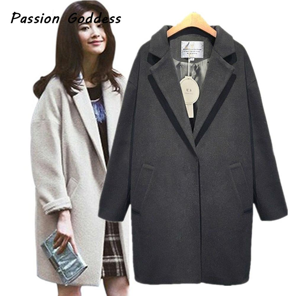 cfdf64688d396 XXL Winter Plus Size Women Long Wool Blends Thicken Long Oversized ...