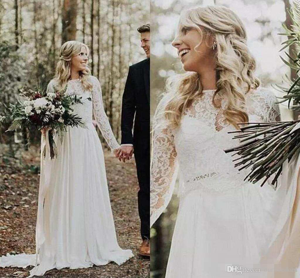 Discount 2018 Vintage Country Style Spring Wedding Dresses Bridal