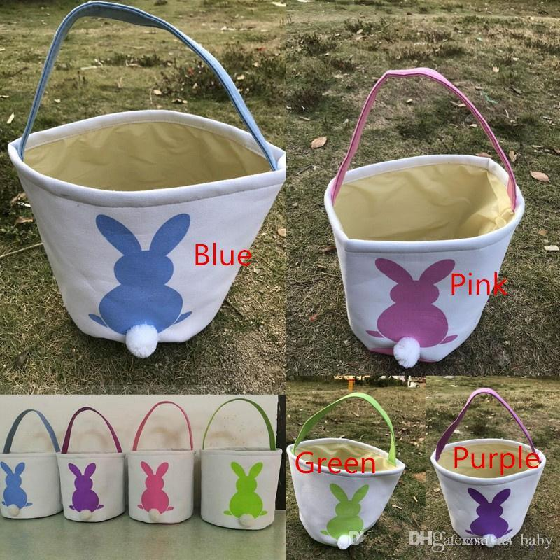 عيد الفصح الأرنب سلال DIY الخيش أكياس آذان أرنب وضع البيض تخزين الأرنب الجوت آذان أرنب سلة