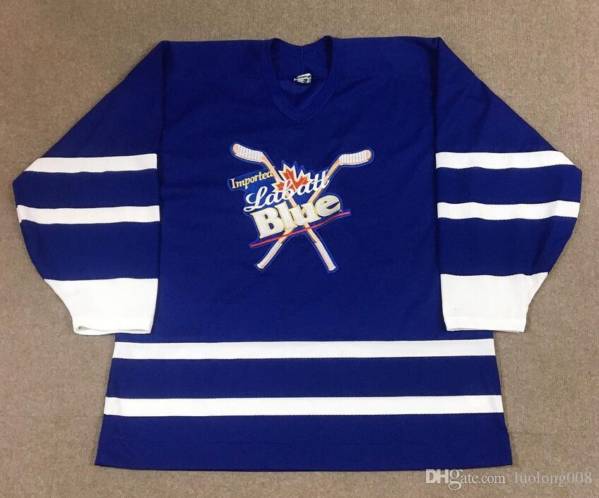 2019 Vintage Labatt Blue Beer Hockey Jersey Embroidery Stitched Customize  Any Number And Name Jerseys From Luolong008 49d6816f243