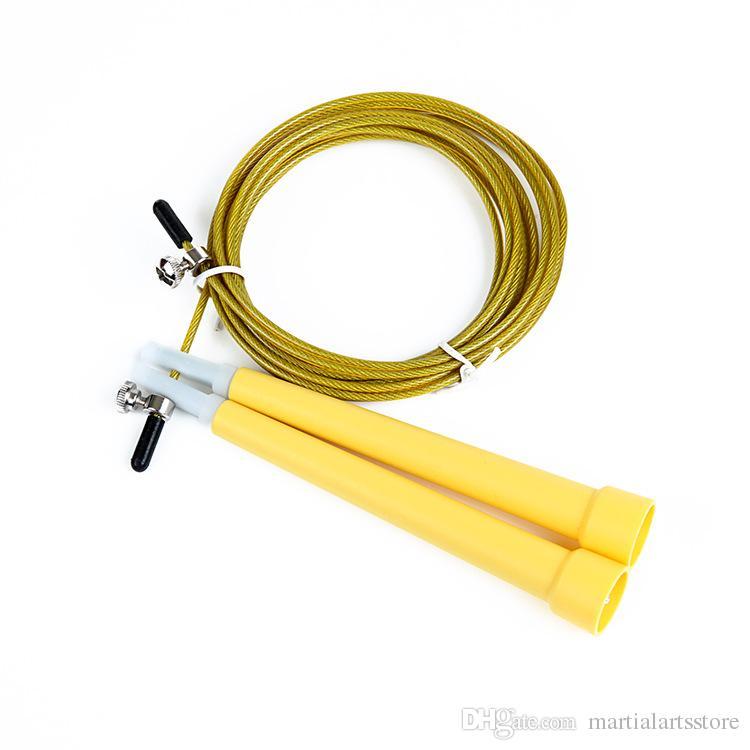 En plastique poignée réglable en acier inoxydable fil à sauter corde pas cher prix