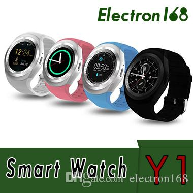 2ebc20dc2ec New Y1 Smart Watches Latest Round Touch Screen Round Face Smartwatch Phone  With SIM Card Slot Smart Watch For IOS Android High Quality 100X Latest ...